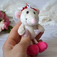 Мышка невеста для куклы 11 см ALB69