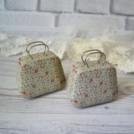Сумка чемодан для куклы Цветы ALR16