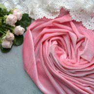 Бархатная ткань розовая. Отрез 20*46см TKR120
