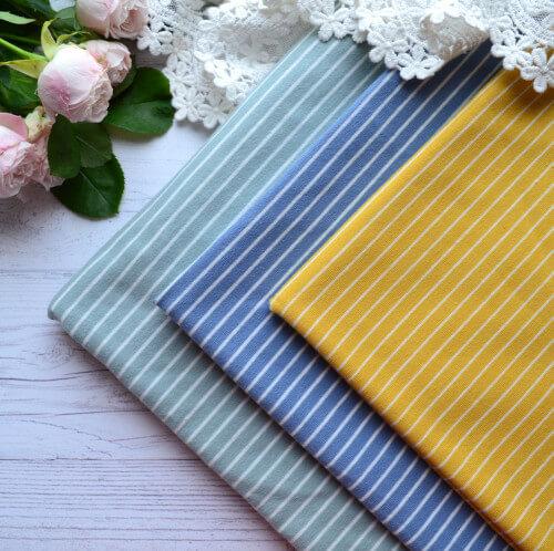 • Набор полосатого трикотажа. Ширина ткани 160см. Цена указана за 3 отреза 25*40см