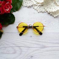 Очки для куклы с золотой оправой 8*3см ALO24
