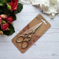 Ножницы для вышивки и рукоделия Винтажные золото 12см AS033